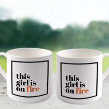 This girl is on fire Big Bone China Mug (Lifestyle)