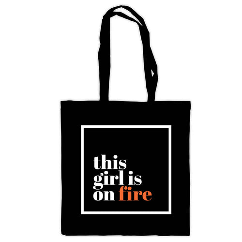 This girl is on fire Tote Bag