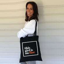 This girl is on fire Tote Bag (Lifestyle)