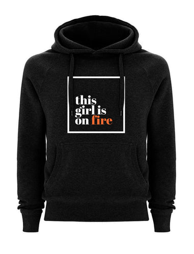 This girl is on fire Black Hoodie