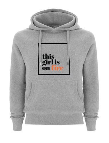 This girl is on fire Grey Hoodie