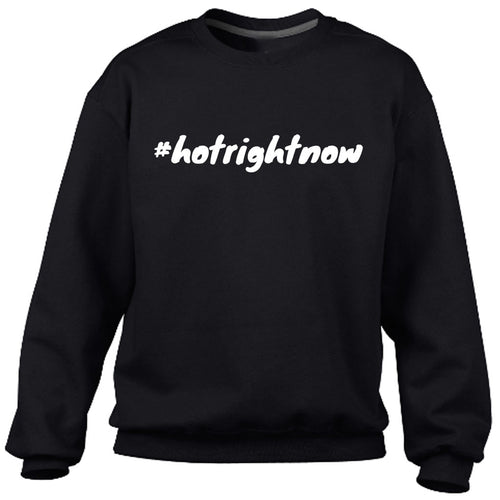 #hotrightnow Black Heavy Blend Sweatshirt