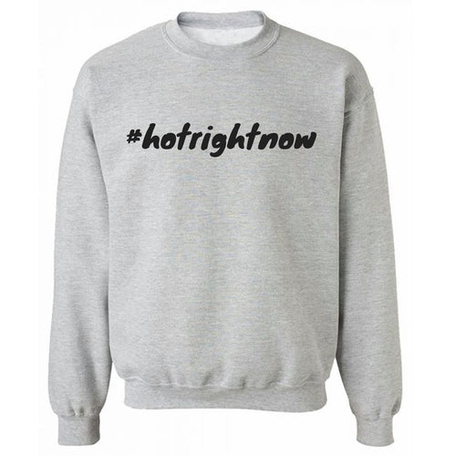 #hotrightnow Grey Heavy Blend Sweatshirt