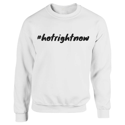 #hotrightnow White Heavy Blend Sweatshirt