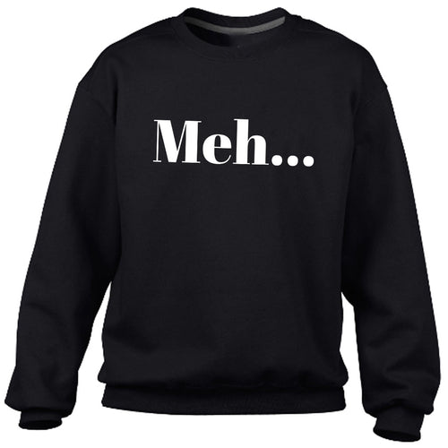 Meh Black Heavy Blend Sweatshirt