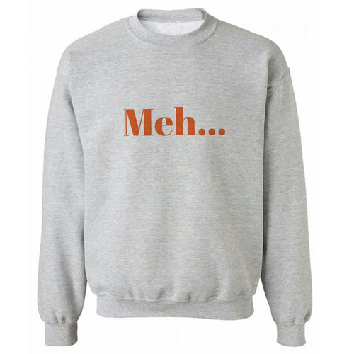 Meh Grey Heavy Blend Sweatshirt