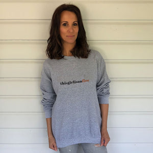 TGIOF Grey Heavy Blend Sweatshirt (Lifestyle)