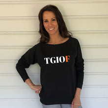 TGIOF Black Slouch Sweatshirt (Lifestyle)