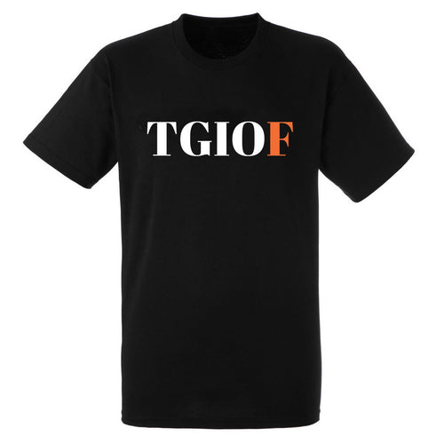 TGIOF Heavy Black Cotton T-Shirt