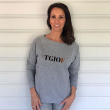 TGIOF Grey Slouch Sweatshirt (Lifestyle)