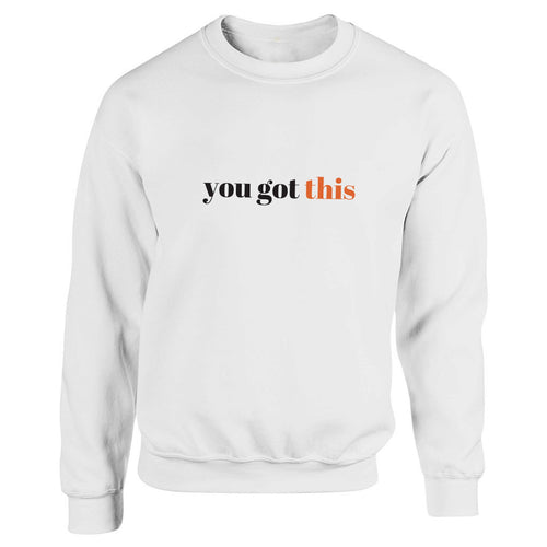 You got this White Heavy Blend Sweatshirt