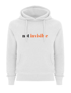 Not Invisible White Hoodie