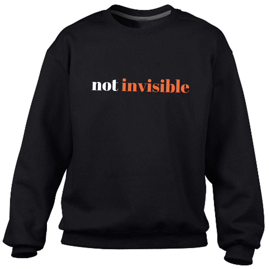 Not Invisible Black Heavy Blend Sweatshirt