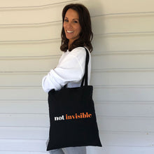 Not Invisible  Tote Bag (Lifestyle)