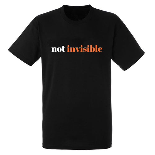 Not Invisible Heavy Black Cotton T-Shirt