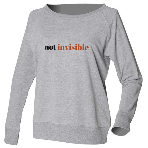 Not Invisible Grey Slouch Sweatshirt