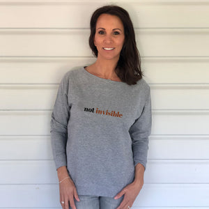 Not Invisible Grey Slouch Sweatshirt (Lifestyle)