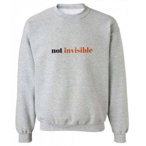 Not Invisible Grey Heavy Blend Sweatshirt