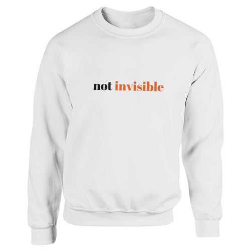 Not Invisible White Heavy Blend Sweatshirt
