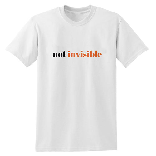 Not Invisible Heavy White Cotton T-Shirt