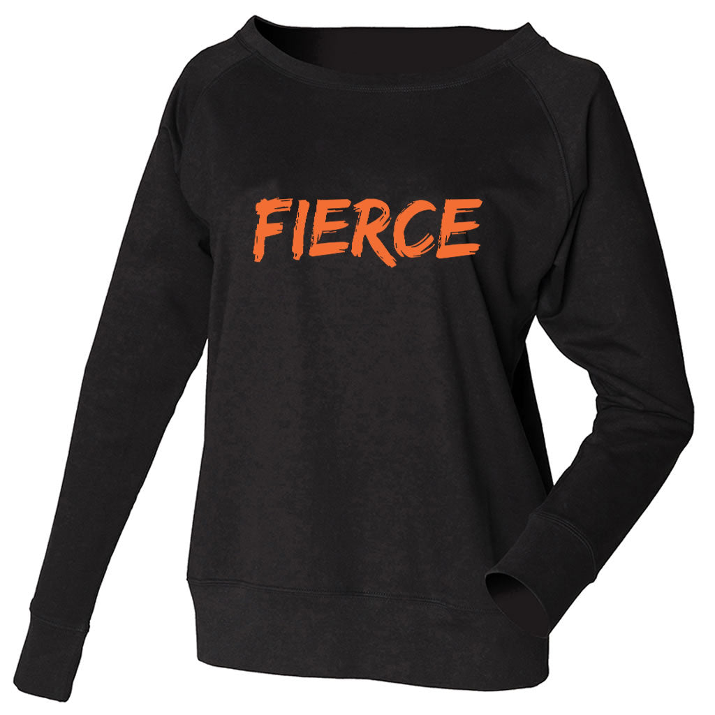 FIERCE Black Slouch Sweatshirt