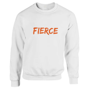 FIERCE White Heavy Blend Sweatshirt
