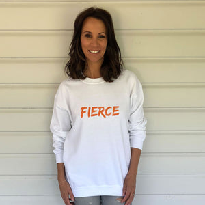 FIERCE White Heavy Blend Sweatshirt (Lifestyle)