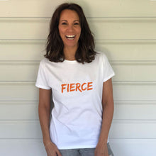 FIERCE Heavy White Cotton T-Shirt (Lifestyle)