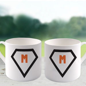 M Big Bone China Mug (Lifestyle)