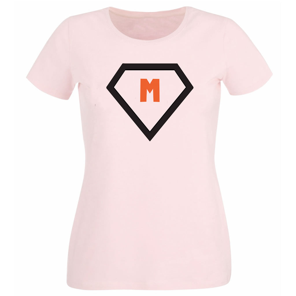 M Heavy Pink Cotton T-Shirt
