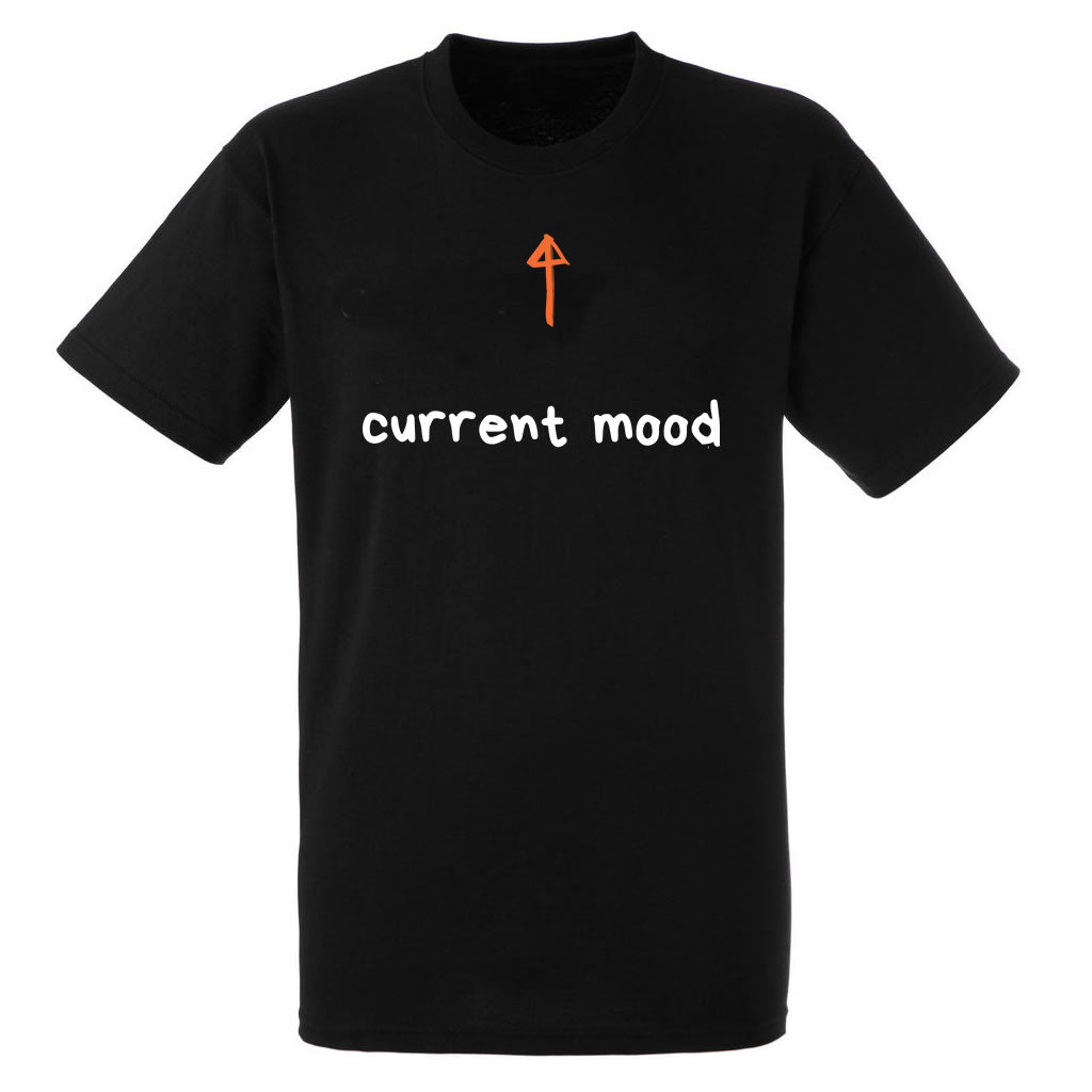 Current Mood Heavy Black Cotton T-Shirt