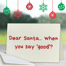 Dear Santa Greeting Card (Lifestyle)