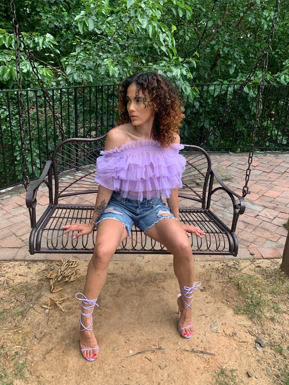 Lucky Lilac Tulle Blouse