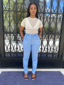 Yonce Stacked Denim Pants