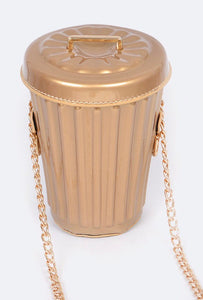 Gold Garbage Can Clutch  *PREORDER