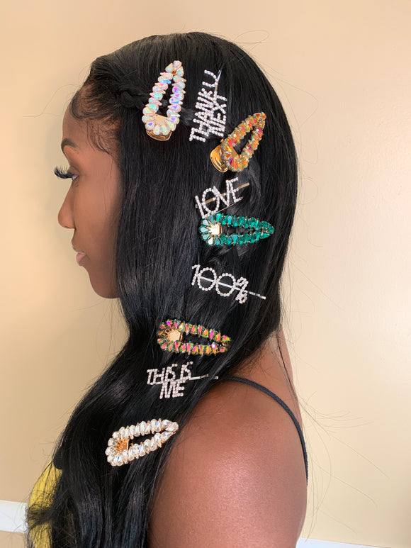 Jumbo Bejeweled Hair Clips