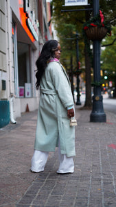 Mint Tea Trench Coat