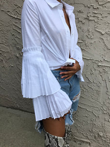 Damsel Pleated Collar Shirt