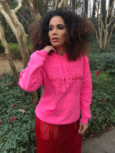 NEON PINK FAITH & FASHION HOODIE