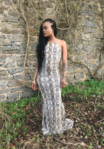 Eisha Mermaid Snakeskin Dress