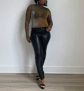 Michelle Mesh Metallic Bodysuit