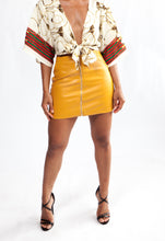 Bodak Yellow Zipper Front Mini Skirt