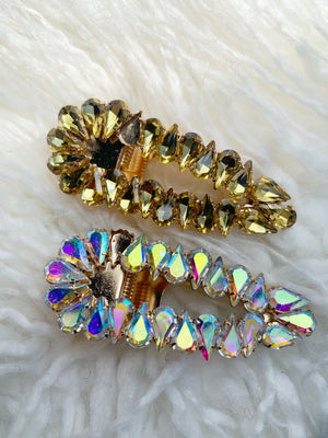 (2) Jumbo Bejeweled Clips