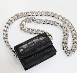 Mini Croc Jumbo Chain Bag