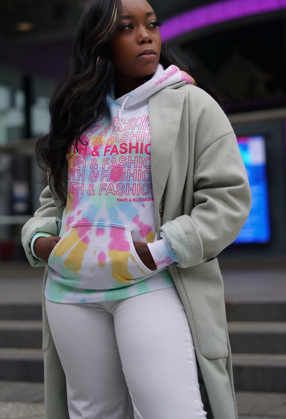 Tie Dye Faith & Fashion Hoodie