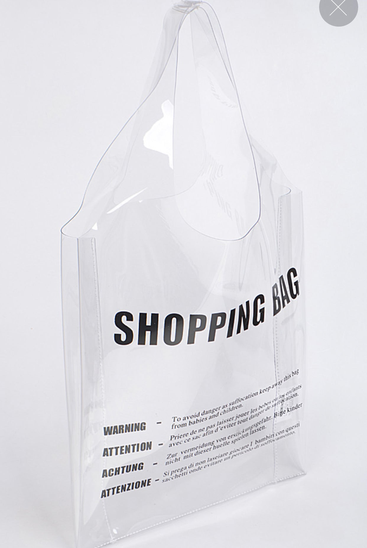 Clear Shopping Bag Tote