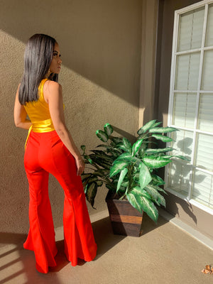 Betsy High Low Flare Pants