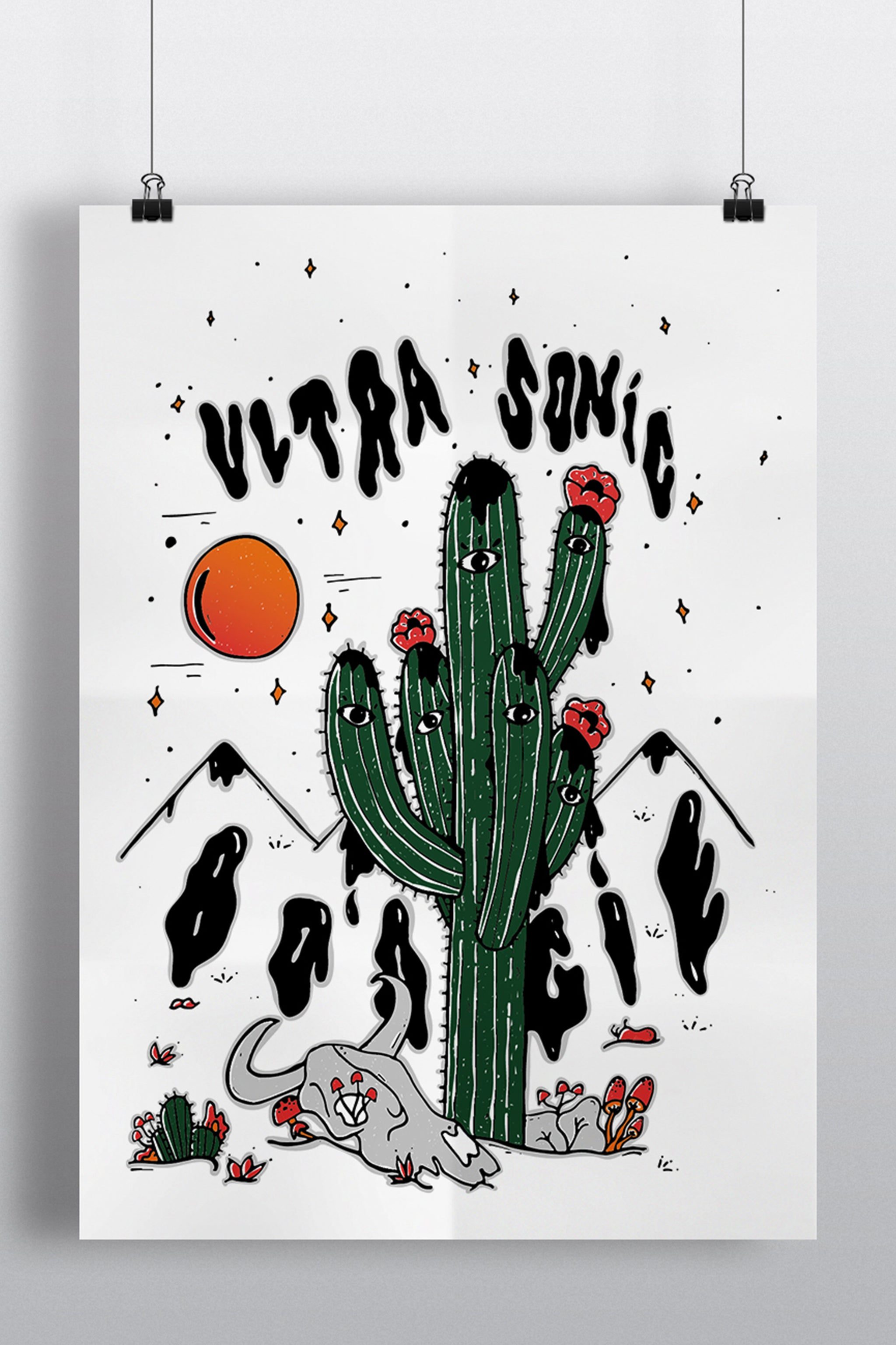 """ULTRA SONIC BOOGIE"" POSTER"