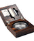 Cohiba Fold Cedar Wood Cigar Ashtray with Guillotine Cutter & Bullet Punch Set - Richard Cutters - Cigar Accessories