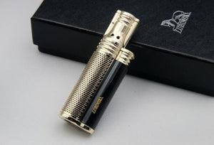 LUBINSKI Reusable Pocket Windproof Single Jet Flame Cigarette Cigar Lighter without gas fuel - Richard Cutters - Cigar Accessories